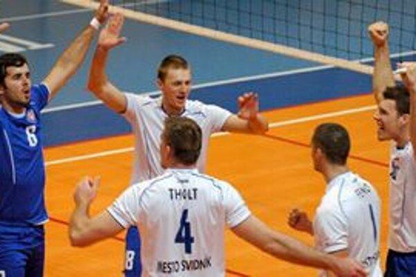 Zaslúžená radosť. Volejbalisti Svidníka sú v semifinále extraligy.
