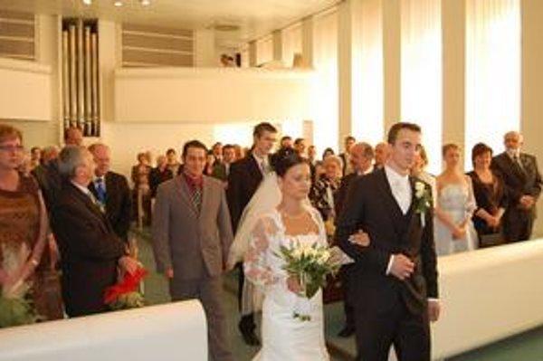 Obradná sieň. Svadbu v nej mal aj reprezentačný hokejový brankár Imrich Petrík.