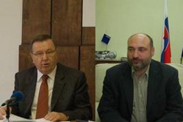 S. Kubánek (vľavo) obvinil Kužmu z klamstva. Š. Kužma tvrdí, že neklamal.