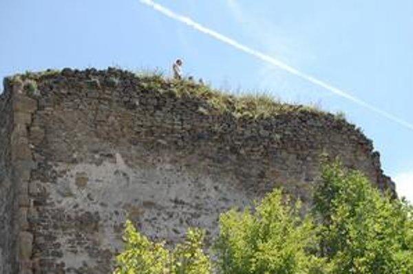 Najvyšší bod hradu. Veža je lákadlom pre turistov.