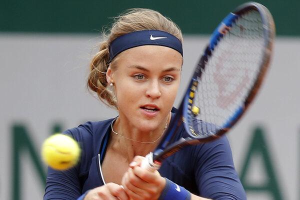 Slovenskej tenistke nestačil na výhru ani solídny náskok v rozhodujúcom sete.
