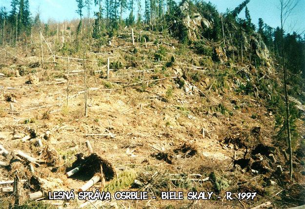 Osrblie - Biele skaly v roku 1997