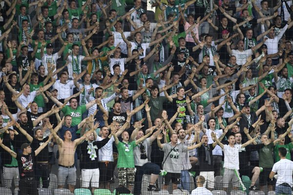 V hľadisku vytvorili Slovinci svojmu tímu skvelú atmosféru.