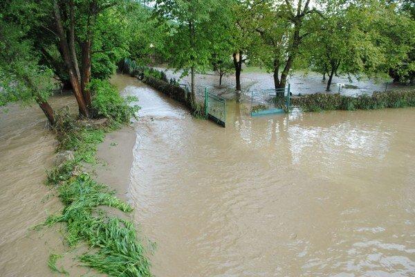 Torysa zaplavila v Sabinove 15. mája rozsiahle územie.