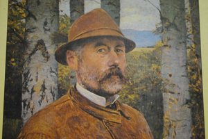 Autoportrét. Maliar sám seba namaľoval ako vidieckeho gazdu.