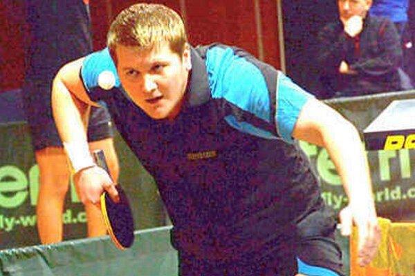 Na podaní. Stolný tenista Martin Palovčík.