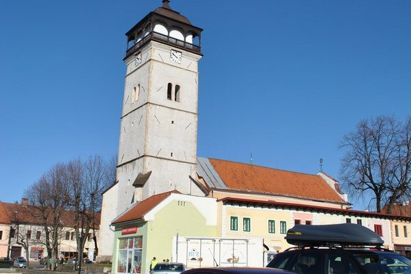 Strážna veža. Patrí k dominantám historického jadra mesta.