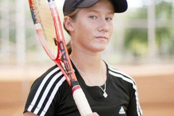 Nádejná tenistka Alexandra Lázárová.