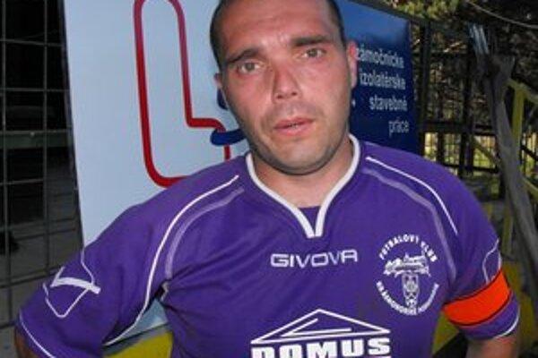 Kapitán FK Krh. Podhradie Jaroslav Piater bol s druhým polčasom spokojný.
