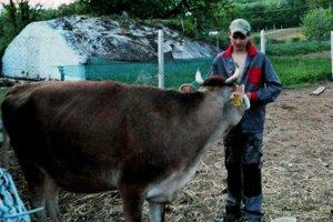Mladý farmár. Benediktova farma vzbudzuje v Kurime záujem u mladých chovateľov, ale aj starších gazdov.