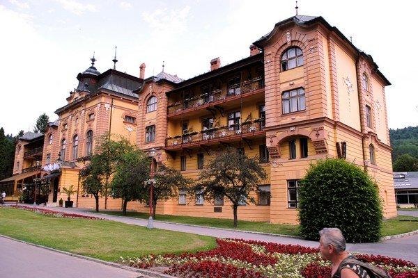 Hotel Alžbeta. Jeden z architektonických skvostov Bardejovských kúpeľov.