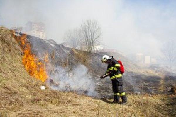 Požiar na Vinbargu. Miestny kopec v minulom týždni zasiahli plamene. Hasiči tu v meste zasahujú najčastejšie.