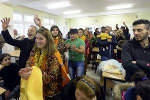 Irackí utečenci po príchode na Slovensko.