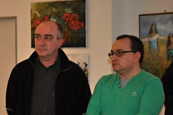 Orest Tsyupko aSergey Galay. Vystavujú vHumennom do 14. apríla.