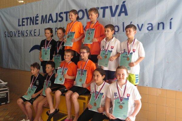 Majstrovstvá SR najmladších žiakov. Oliver Verba na nich získal štyri medaily.