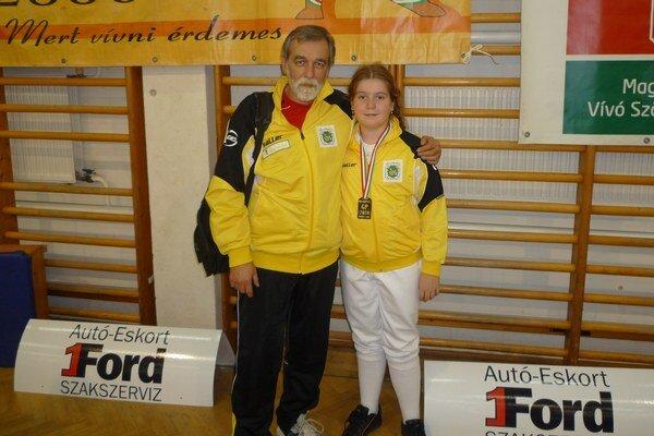 Mária Gerbová s trénerom Kazíkom.