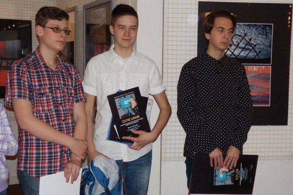 Ocenení autori Peter Polanský (zľava), Boris Fecenko, Lukáš Miško.