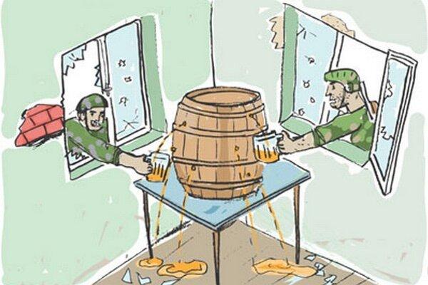 Ocenený kreslený vtip.