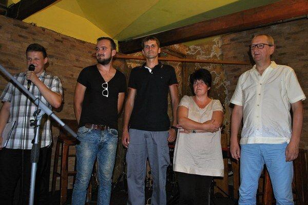 Inšpiratívni Humenčnia po tretíkrát. Martin Ruščanský, Lukáš Jeňo, Ján Kerekeš, Katarína Medarová a Jaroslav Pčola.