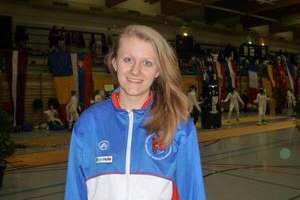 K. Hunčárová. Na šampionáte najlepšia Slovenka.