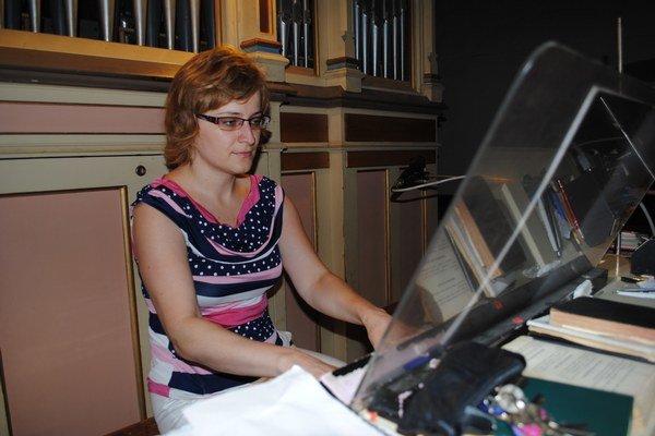 Katarína Feňová. Organ je jej životom.