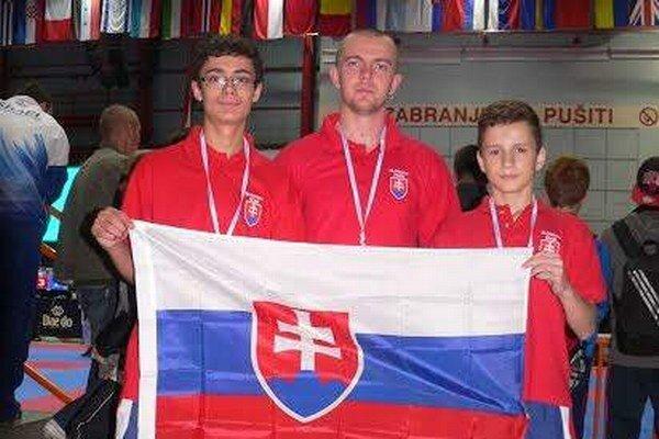 Trio našich. Zľava Samuel Kukura, Tomáš Potocký a Michal Matiko.