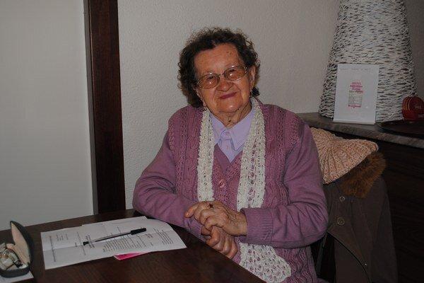 Anna Feiglová. Je najstaršou členkou združenia Ženy a tradície.