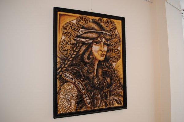 Obrazy Miroslava Hostiňáka. Vystavuje v Dome kultúry.