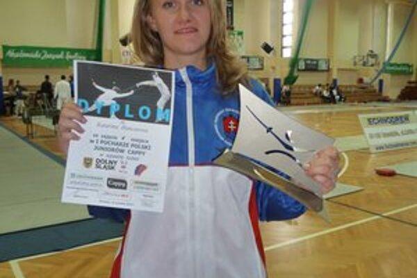 Katka Hunčárová. Sezónu začala piatym miestom.