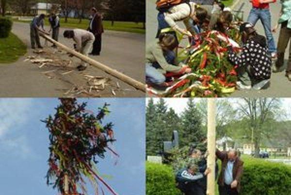 Stavanie májov v Udavskom. Je v obci veľkým sviatkom. Vystúpi skupina Udavčane, mladí sa zabávajú na diskotéke a krásnu májovú noc rozžiaria tradičnou vatrou.