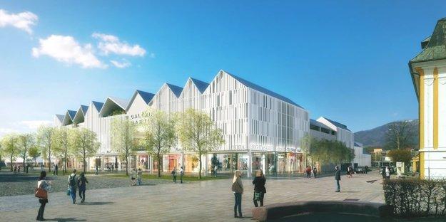 Vizualizácia budúceho nákupného centra Galéria Martin
