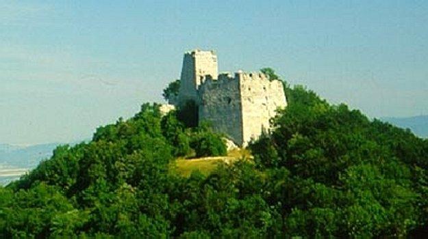 Zrúcanina hradu Tematín.
