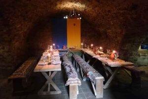 Hradná pivnica. Podľa legendy mala z hradu viesť i tajná úniková chodba. 5234286eac3
