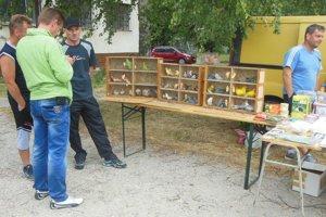Burzy zvierat v Močaranoch. Ponúkajú rôzne druhy králikov, prasiatok i exotických vtákov.