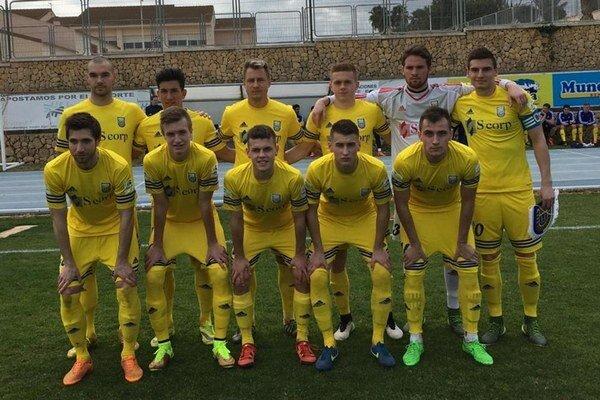 Základná jedenástka vsúboji proti Lokomotivu Tbilisi. Žlto-modrí otočili nepriaznivé skóre a gruzínskeho protivníka zdolali 2:1.