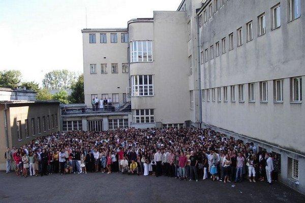 Michalovské gymnázium.