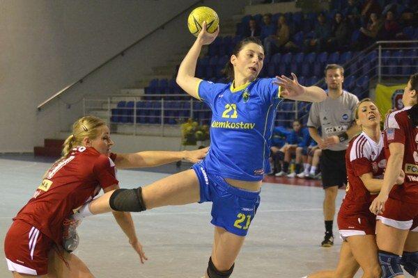 Pivotka Patrícia Wollingerová. Jej výkony stúpajú od zápasu k zápasu.