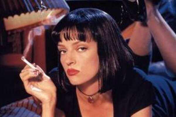 Uma Thurman vo filme Pulp Fiction.