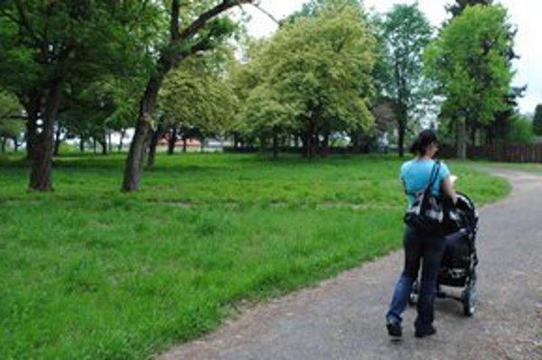 Park Kerta. Je najstarším parkom v Michalovciach.