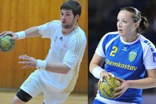 Gennadij Kučer a Julia Bachyrievová. Michalovskí hádzanári budú od zajtra manželmi.