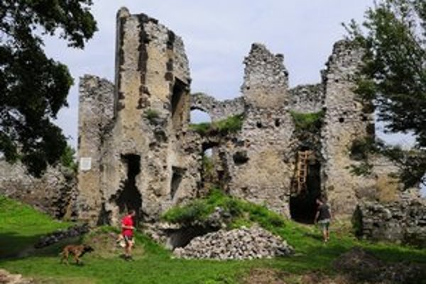 Zrúcaniny hradu Vinné.