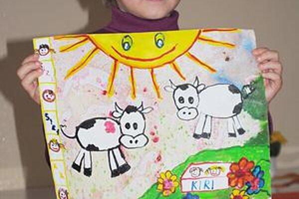 Víťazka. Michalovčanka Janka Puškárova vyhrala v kategórii materských škôl. Namaľovala najkrajšiu farmu.