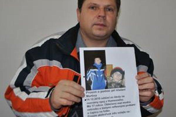 Štefan Marcinčák. Otec hľadá svojho syna už 39. deň.