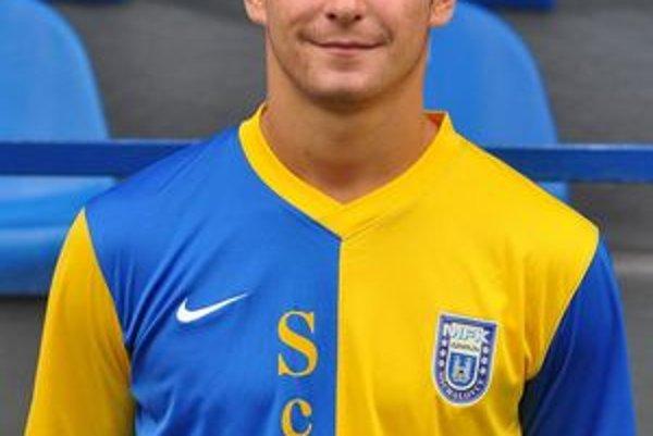 Útočník Dominik Kunca. V drese svojho súčasného klubu MFK Zemplín Michalovce.