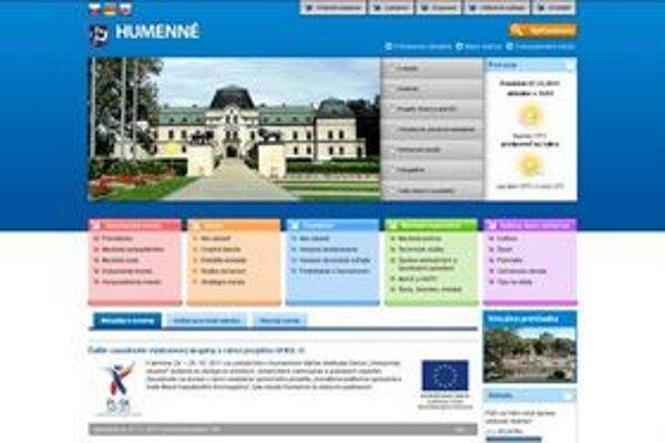 Nová webová stránka mesta. Na starú sa od novembra nedá preklikať.