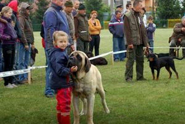 Dieťa a pes. Barborka a Elton priťahovali zrak všetkých chovateľov aj porotcov.