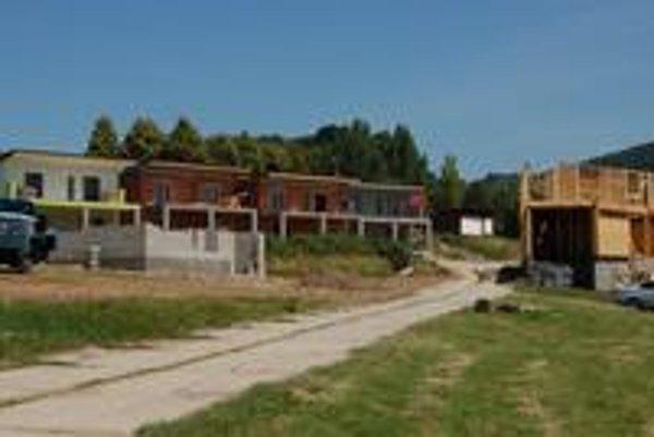 Stredisko Hôrka. Najviac chát a bungalovov pribúda v tomto rekreačnom stredisku.