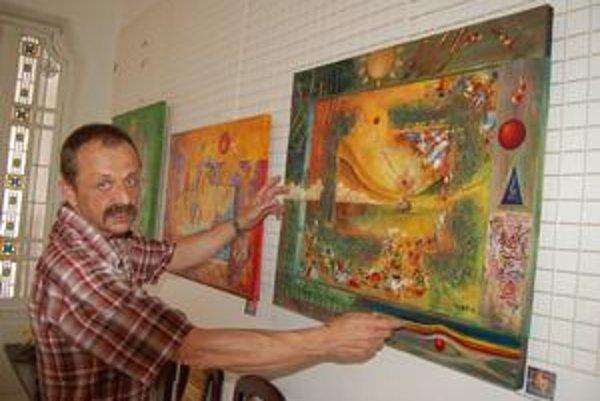 Výtvarník. Martin Remiáš odkrýva návštevníkom brány poznania.