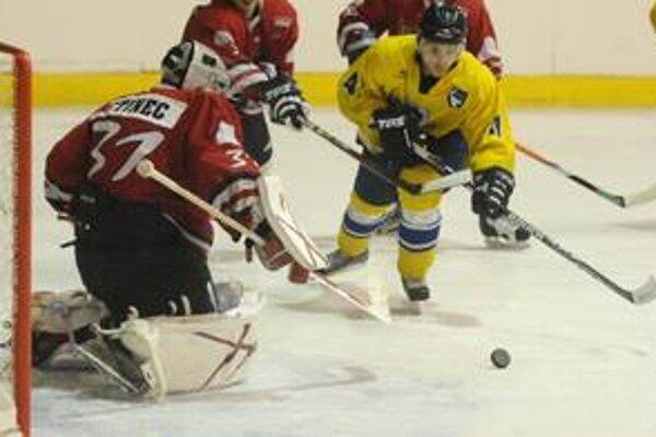 Úvodný gól. Takto strelil Tomáš Zagyi svoj prvý gól do siete P. Bystrice.