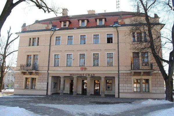 Mestský úrad v Levoči. Budova sa bude rekonštruovať.